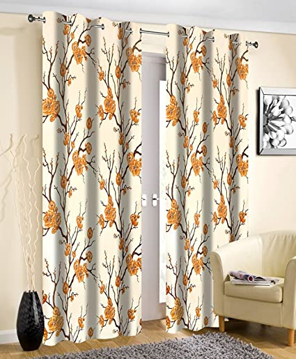 Curtains - Premium Curtains for Window 2 Pc (Two) Size 4 Feet x 5 Feet by Weave Well