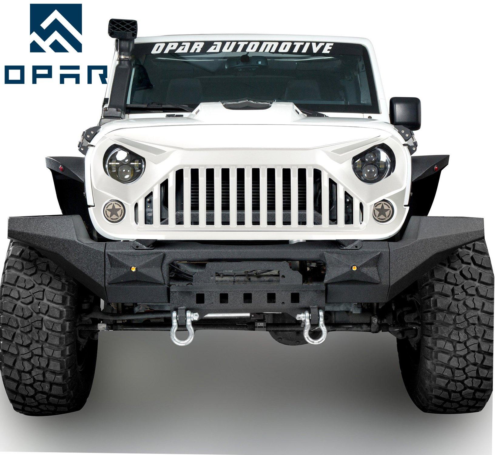 Opar Chrome Silver Door Handle Trim for 2007 - 2010 Jeep JK Wrangler 2-Door by opar