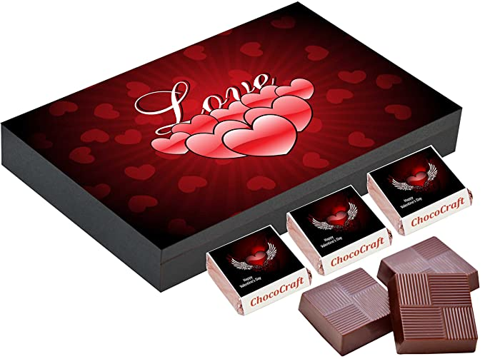 Chococraft Best Valentines Day Gifts 12 Chocolate Gift Box Box Of Valentine Chocolates Amazon In Grocery Gourmet Foods
