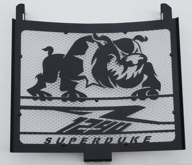 rete bianca Copri radiatore//griglia radiatore 1290 R Superduke 2014//2016 nero satinato Bulldog