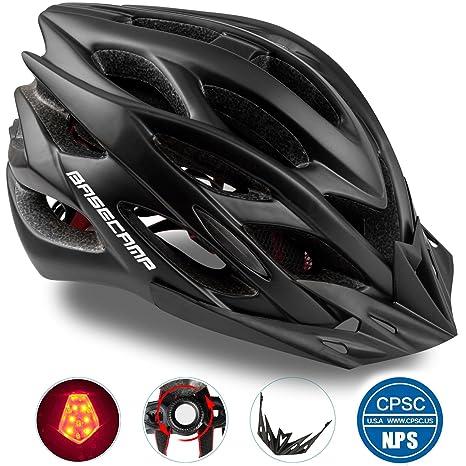 Amazon.com   Basecamp Specialized Bike Helmet with Safety Light ... 770147b4b8