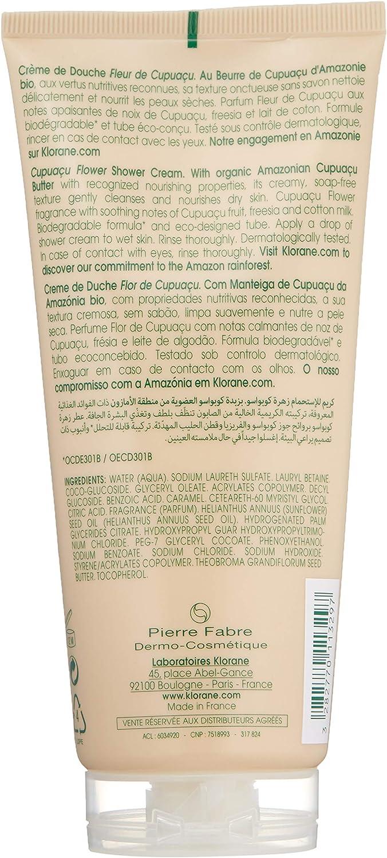 Klorane Bodycare Creme Duche Flor de Cupuaçu 200 ml: Amazon.es ...