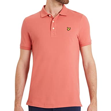 e96952892 Lyle and Scott SP400VTR SS Polo T-Shirt Sunset Pink: Amazon.co.uk: Clothing