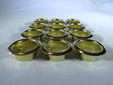 Candle Cups Crafting New Set of 5 Gold Tone