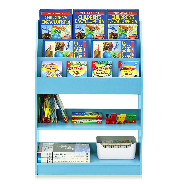 Furinno FR16118LB KidKanac Bookshelf, Light Blue by Furinno (Image #6)