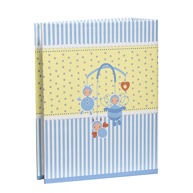 Arpan Small 6x4 Baby Boy Blue Photo Album Slip in Case Storage Album for 100 Photos Ideal Gift