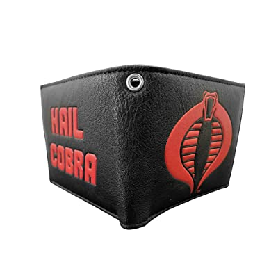 G.I.Joe Cobra Symbol with Cobra Commander Men/'s Bifold Wallet