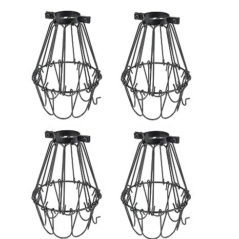 Amazon.com: Juego de 4 lámparas de estilo industrial vintage ...