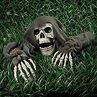 Unomor Halloween Decorations Outdoor Skeleton Skull Stakes Decorations Ground Breaker Skeleton Best Halloween Decorations