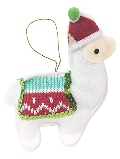 Llama Christmas.Llama Christmas Tree Ornament