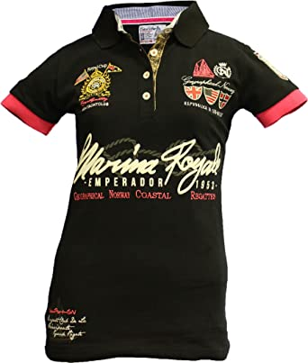 Geographical Norway - Polo - para Mujer Negro XX-Large: Amazon.es ...