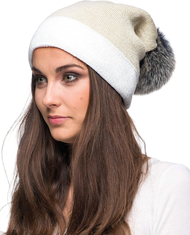 Futrzane Winter Damen M/ütze Slouch Beanie Oversize