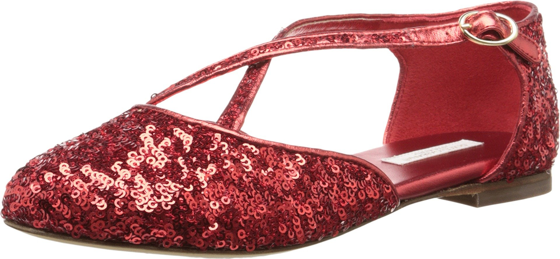 Dolce & Gabbana Kids Girl's Paillettes Sandal (Little Kid/Big Kid) Ruby Red 33 (US 2 Little Kid) M