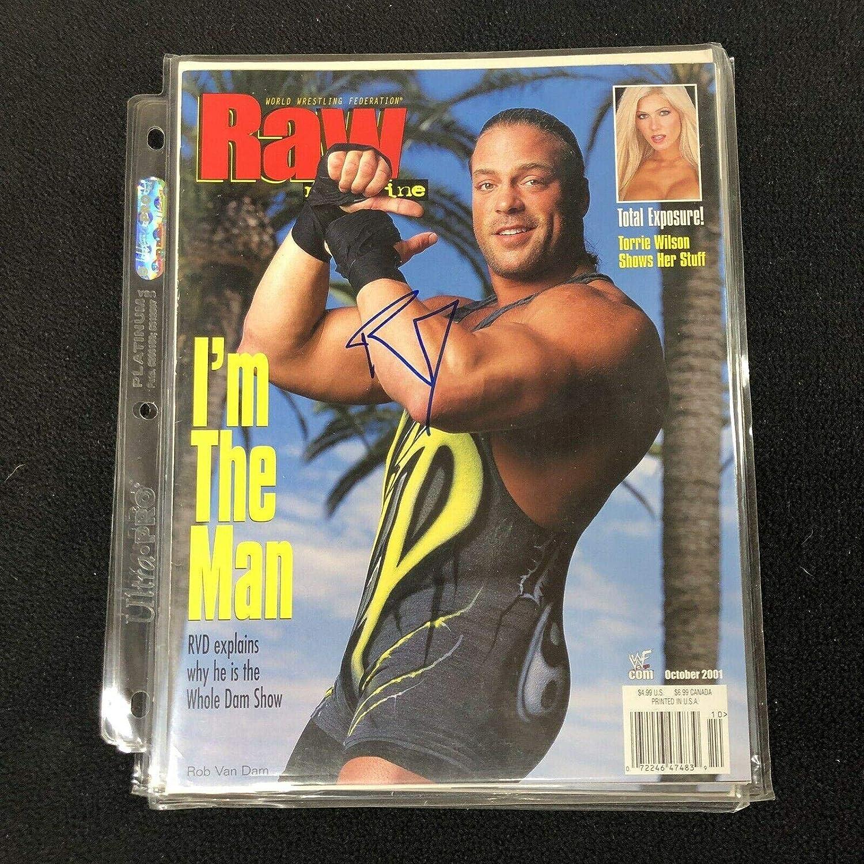 Rob Van Dam Autograph 8x10 Website Promo Photo WWE TNA ECW RVD Green Color
