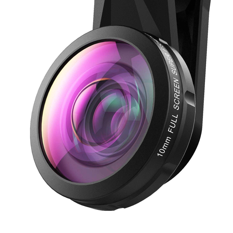 SEHOO Super Fisheye Lens, 235 Degree Cell Phone Camera Lens, No Dark Circle for iPhone Samsung Android Smartphones