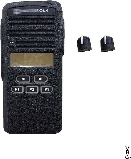 Black Repair front Housing Cover for Motorola GP380 Portable
