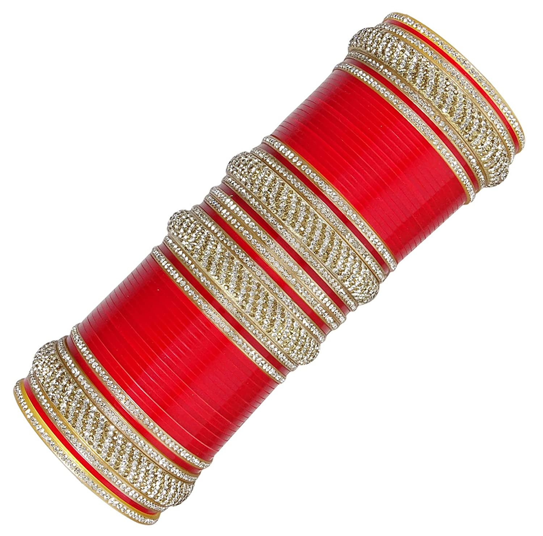 Amazon com: Banithani Traditional Bridal CZ Choora Set