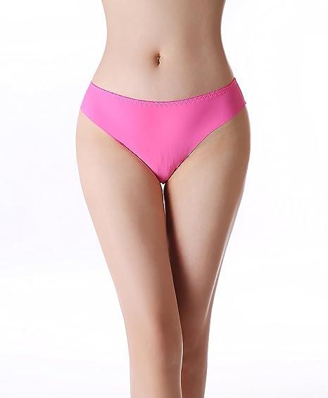 3d6c825011 Women s Seamless No Show Laser Cut Panties (Bikini and Thong Styles) at  Amazon Women s Clothing store