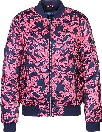 adidas Originals AOP Satin Bomber Jacke GEFÜTTERT BLAU ROSA Ornamente 38 S,  Größe 38 6eb35a520d