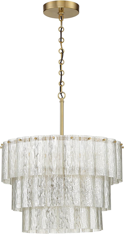 Craftmade 48690 sb museo mercury glass pendant lighting 12 light