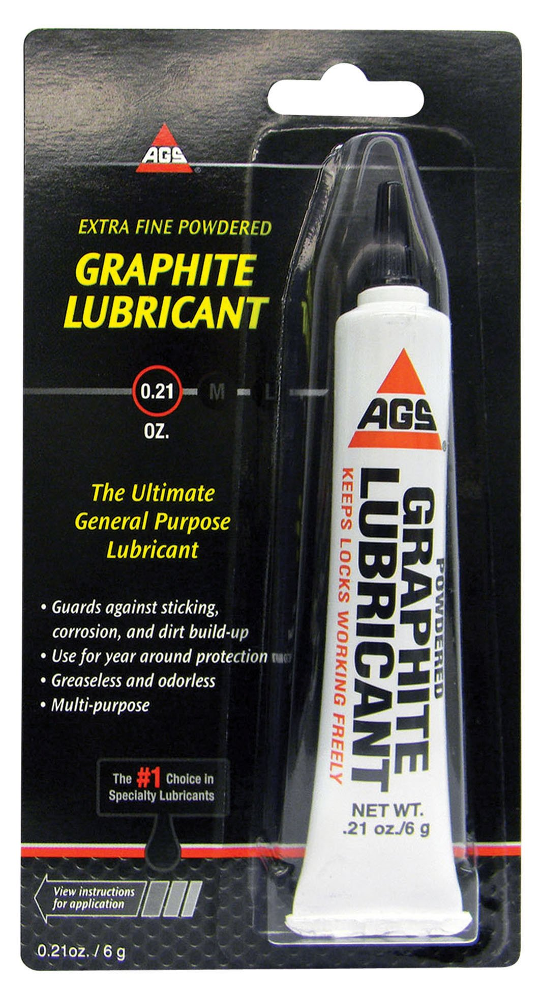 AGS MZ-2 Extra Fine Graphite Dry Lubricant 6g. product image