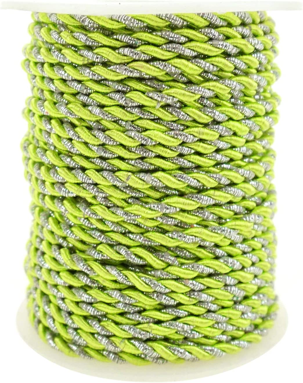 3mm Apple Green Homeford Metallic Twisted Cord Rope Trim 25-Yard