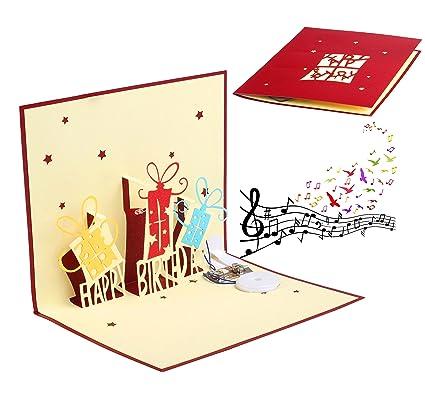 Amazon Jzh 3d Pop Up Handmade Birthday Card Creative Holiday