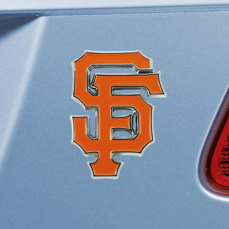 SLS FANMats San Francisco Giants Premium Solid Metal Color Chrome Raised Auto Emblem Decal Baseball