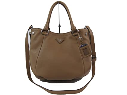 e4f5061a5575 Amazon.com: Prada Vitello Daino Leather Satchel Convertible Satchel