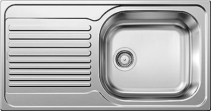BLANCO Tipo XL 6 S - Fregadero (Acero inoxidable, 1 senos, 450 x 400 mm, 18 cm, 950 mm, 500 mm)