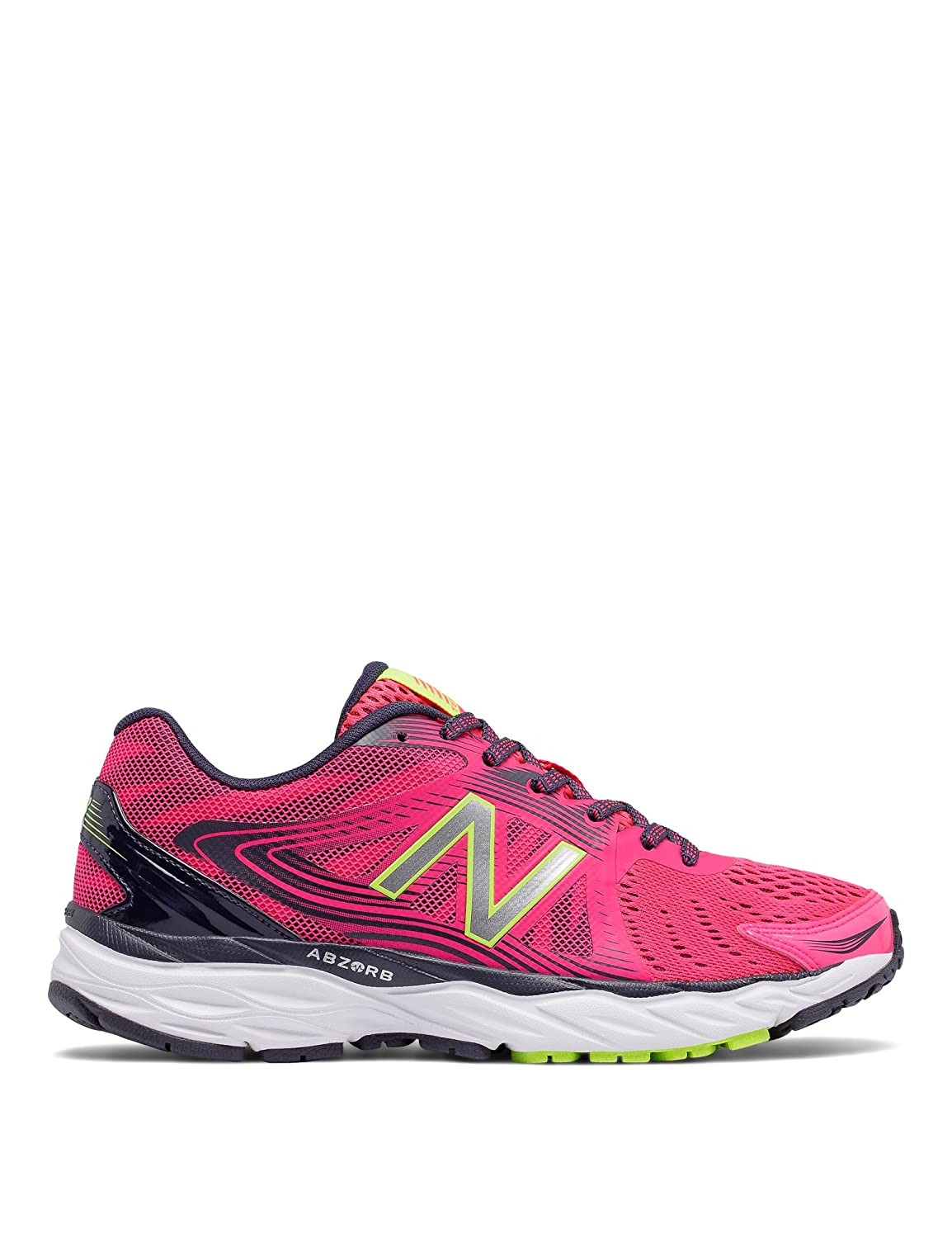 New Balance Women's W680v4 Running Shoe B01FSJCNSO 5 D US|Alpha Pink/Outer Space/Lime Glow
