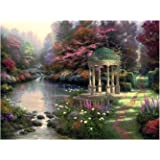 Plaid Creates Paint by Number Kit (16 by 20-Inch), 21787 Garden of Prayer