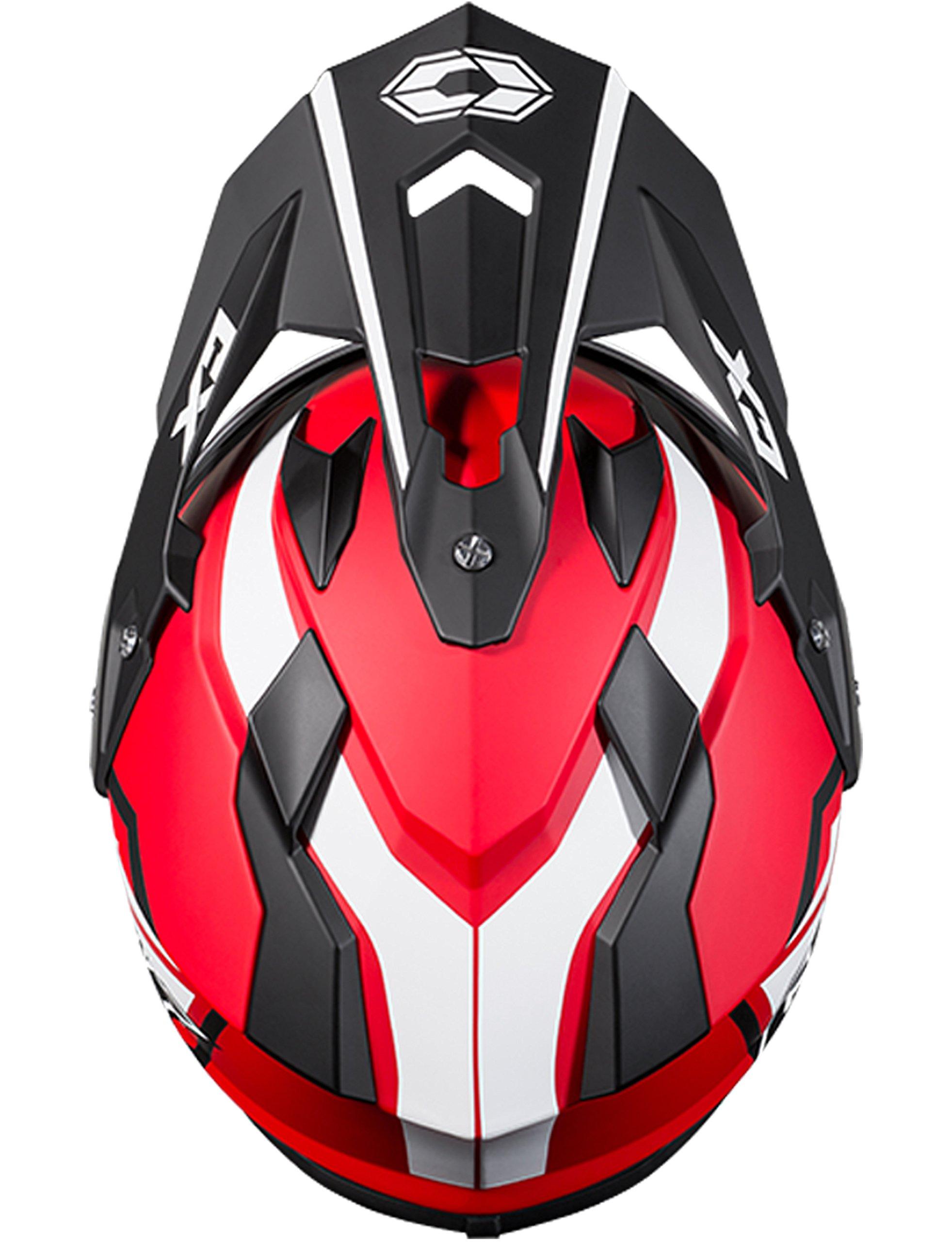 Castle X Mode Dual-Sport SV Team Snowmobile Helmet (XLG, Red)