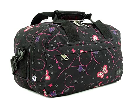 Super Lightweight Ryanair Compliant Second Hand Luggage Cabin On-Board  essential 35x20x20 (Black Flower Butterfly)  Amazon.co.uk  Luggage d2668c910fd7a