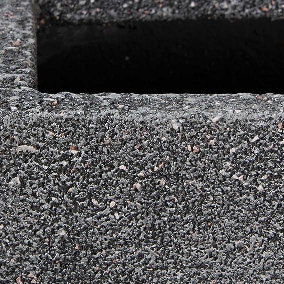 Maceta, jardinera de fibra de vidrio VISIO - color: gris ...