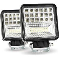 CICMOD 2 Pzs 126W Lámpara de Trabajo 9V-30V 4'' 6000K 12600lm Potentes Faros Trabajo IP67 Impermeable Focos Led Faros…