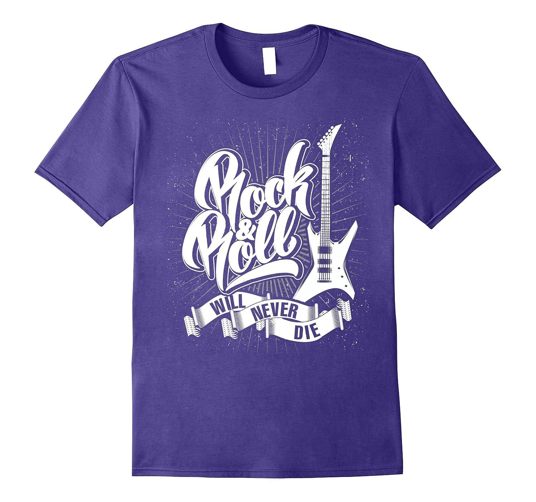 57a2a56b5 Rock n Roll will never die Classic Vintage Design T Shirt-FL ...