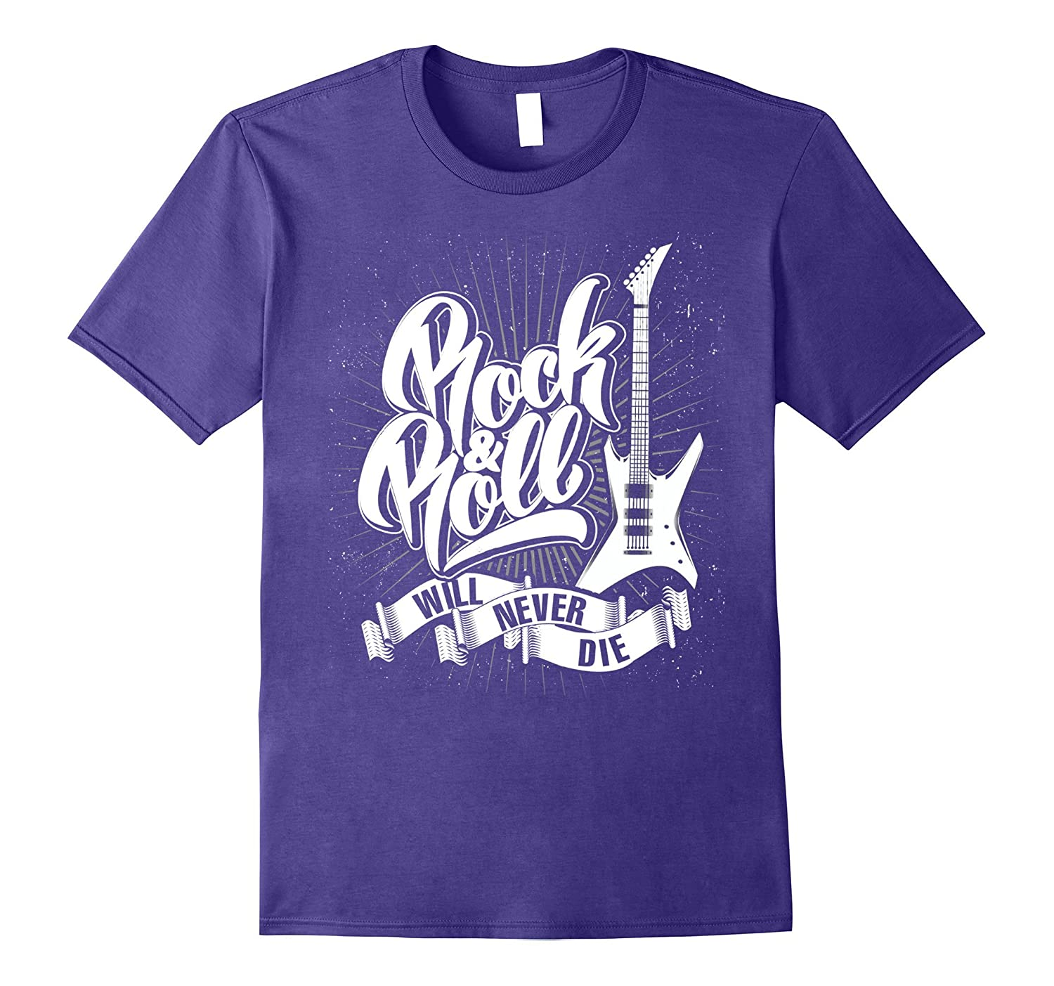 Rock n Roll will never die Classic Vintage Design T Shirt-FL