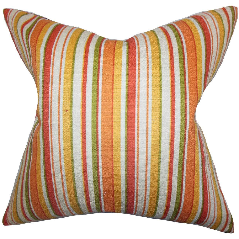 The枕コレクションTaitストライプ22インチダウンフェザーThrow枕オレンジ   B073L53RVS