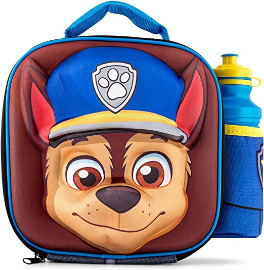 Paw Patrol Lunch Box 3D Image Kids School Outdoor Insulated Food Bag for all