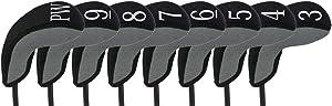 Stealth Club Covers 28080 Hybrid Set 3-PW Golf Club Head Cover (8-Piece), Silver Tweed/Black