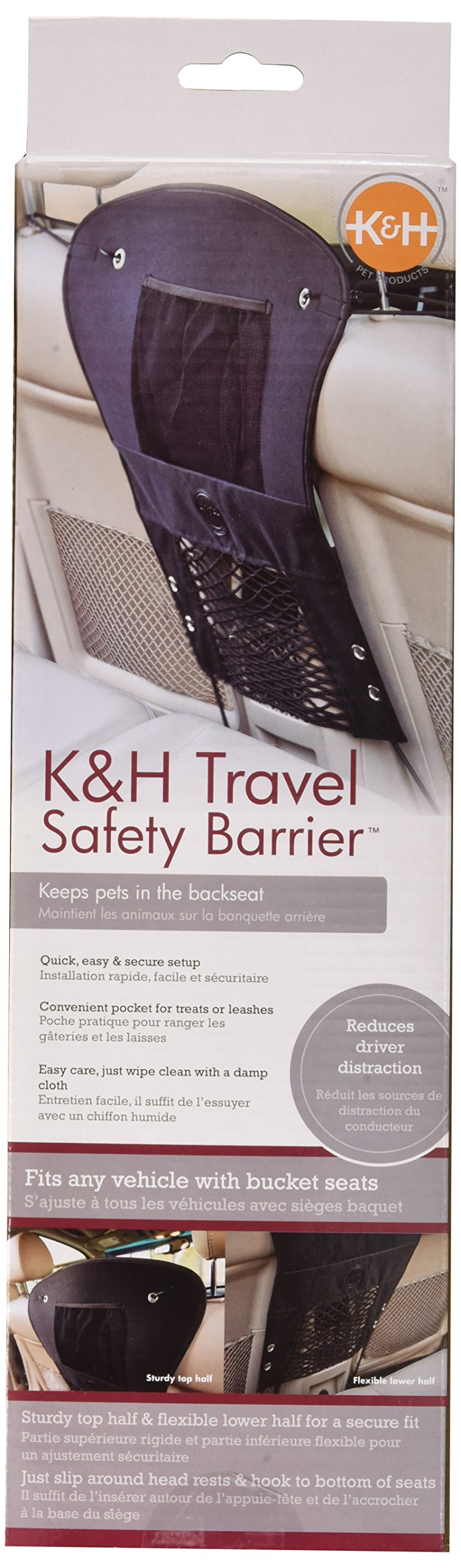 K&H Pet Products Travel Safety Barrier Black 23'' x 24'' by K&H Pet Products (Image #3)