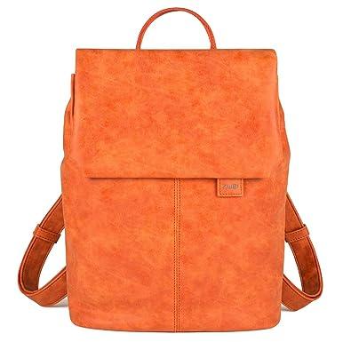 6b8aff0cd1b54 ZWEI MADEMOISELLE Damen Rucksack Damenrucksack orange Orange 35x28x5 ...