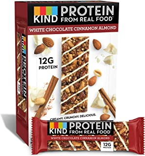 product image for KIND Protein Bars, White Chocolate Cinnamon Almond, Gluten Free, 12g Protein,1.76 Ounce (12 Count)
