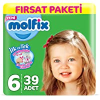 Molfix 3D Bebek Bezi Extra Large 6 Beden, Fırsat Paketi 39 Adet