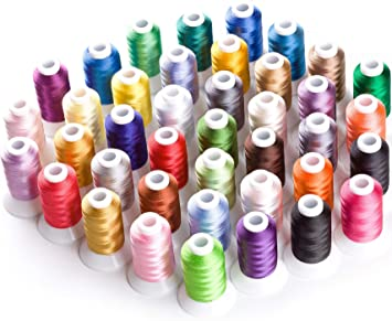 Simthread 63 Brother Colors Polyester 120d//2 40 Weight Embroidery Machine Thread