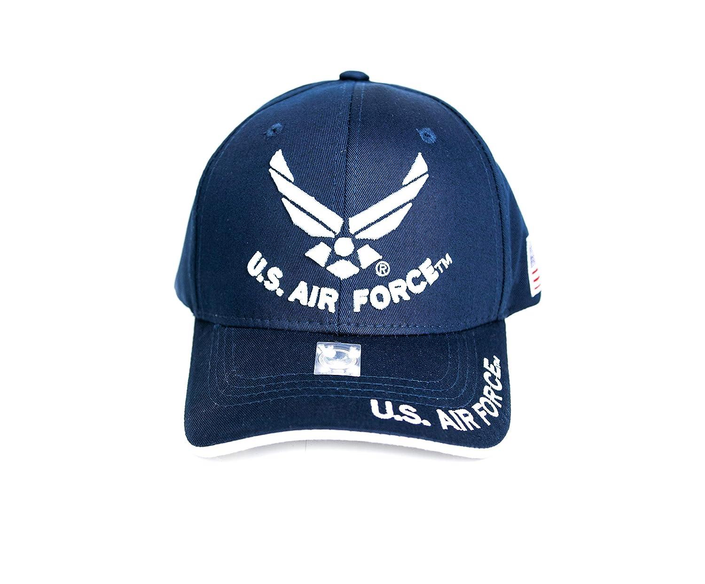 Fusion US Air Forceライセンス公式3d刺繍ロゴUSAフラグエンブレムMilitary調節可能な野球キャップDad Hat Navy B07G4GJ4JR