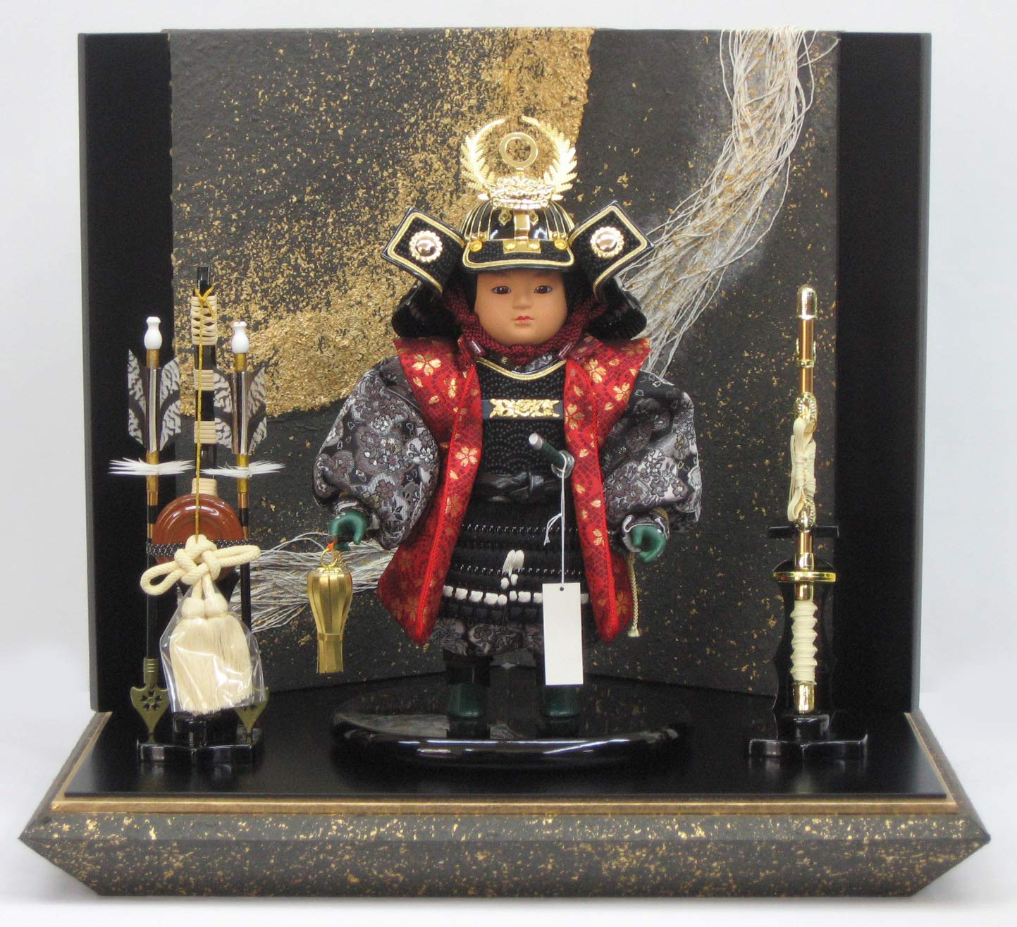 [五月人形 子供大将]5月人形  陣羽織徳川家康大将 間口50cm B07RL3SZ4Z