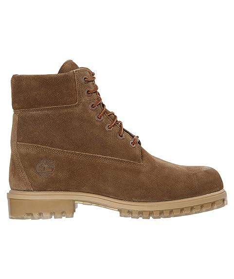 Timberland A19SX Icon 6-inch Premium Boot Sepia Selk Suede, Botines con cordones para hombre, 44: Amazon.es: Zapatos y complementos