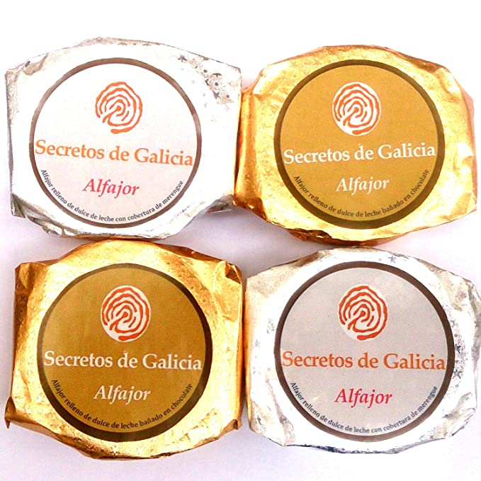 4 Alfajores glaseados (2 merengue al limón - 2 chocolate)